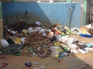 A trash pile in Borel favela