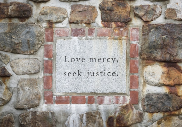 Love Mercy Seek Justice Inscription